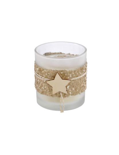 Vela Cristal Estrela Brilhante Dourado