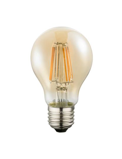Lâmpada LED Globe Vidro Âmbar Transparente