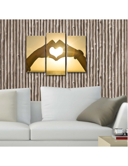 Pintura decorativa em tela com iluminação LED (3 Peças) Multicolor