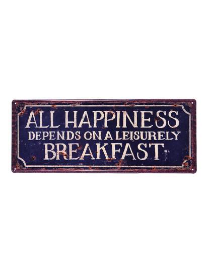 Placa Metálica Happiness