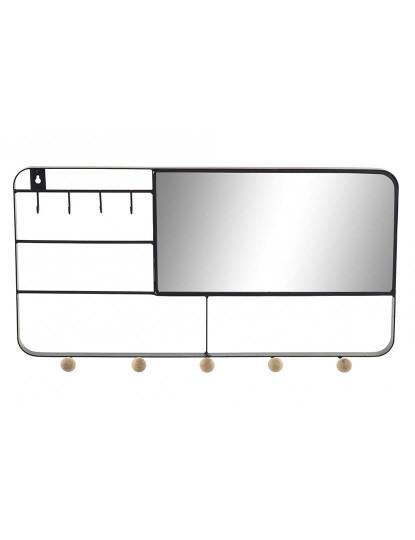 Espelho Metal Cabides Preto