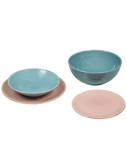 Serviesset (19 pcs) Servies Azul Cor de rosa