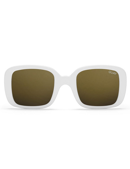 Óculos de Sol Quay 20'S Brancos e Dourados Mirror