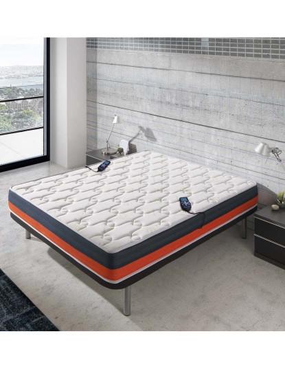 Colchão Visco Baicent Fleur de Lavande 3D® com Massagem, Calor Lombar e Comandos incluídos 140 x 190 cm