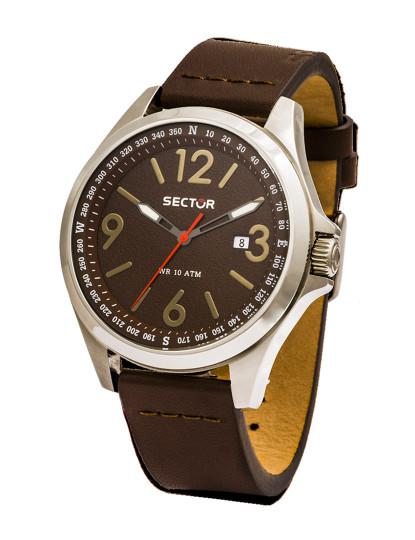 d144f018406 Relógio Sector 180 Castanho