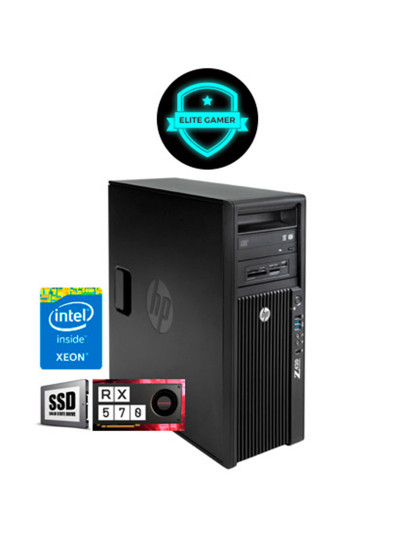 Recondicionado HP Z420 TWR - Xeon QuadCore, 8GB RAM, Disco SSd, AMD Radeon RX 570 4GB