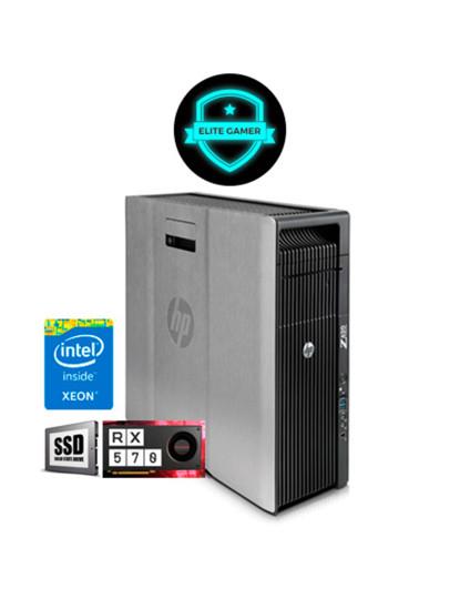 Recondicionado HP Z620 TWR - 2x Xeon DecaCore, 8GB RAM, Disco SSd, AMD Radeon RX 570 4GB