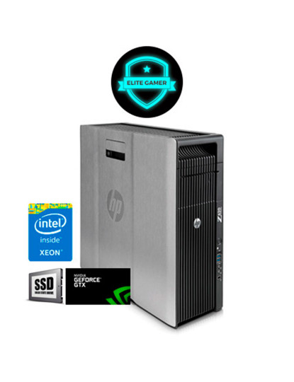 Recondicionado HP Z620 TWR - Xeon DecaCore, 8GB RAM, Disco SSd, Nvidia GTX 1050 2GB