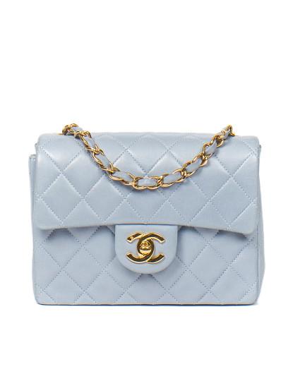 8e6f9c1ee Mala Chanel Clássica a com aba Chanel Azul Claro, até 2017-09-07