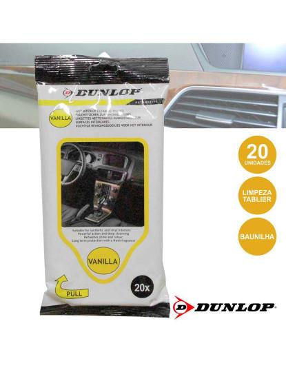Toalhetes Húmidos Dunlop para Limpeza interior