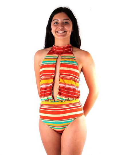Fato de Banho Salinas Fashion Show Roxo