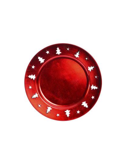 Prato Base PP Árvore  Vermelho
