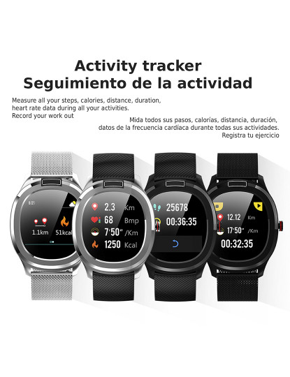 Smartwatch T01 c/ Temperatura Corporal Prateado