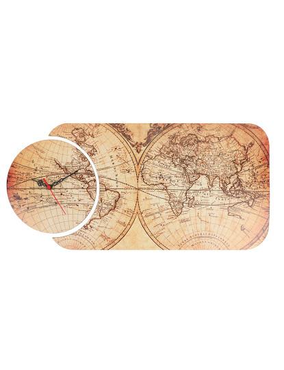 Relógio Mapa Mundo Vintage