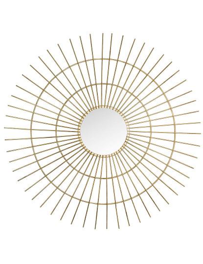 Espelho de Metal 3x77x77 Dourado