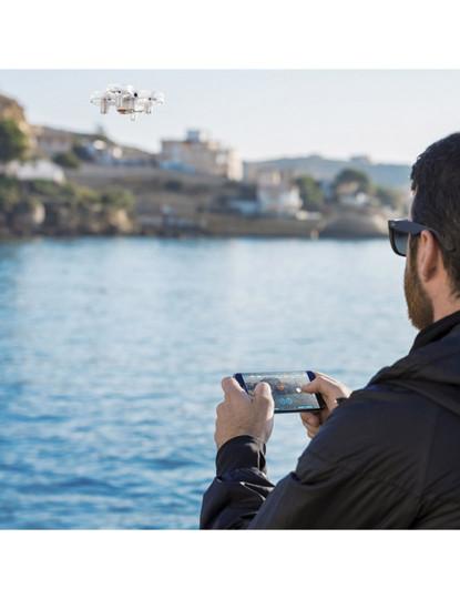 Drone com W-IFI, modo de gravação de vídeo e captura de fotos Branco