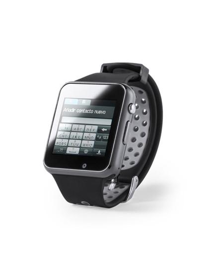 Smartwach Bluetooth com Câmara e bracelete em Silicone Preto