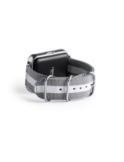 Smartwatch Bluetooth com Câmara e bracelete em Poliéster Cinzenta