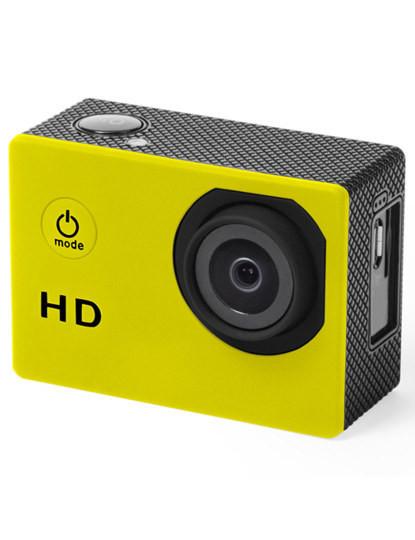 Câmara Desportiva de captura de vídeo HD 720p com Ecrã 2'' Amarela