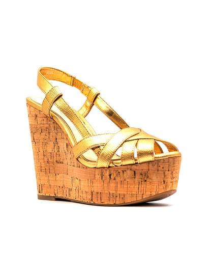 Sandálias cunha Jessica Simpson West Dourado