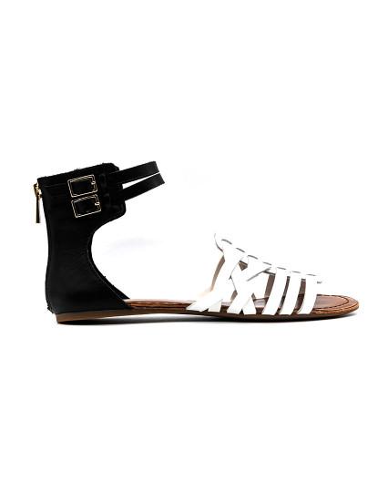 Sandálias rasas Jessica Simpson Rumorre Preto Branco