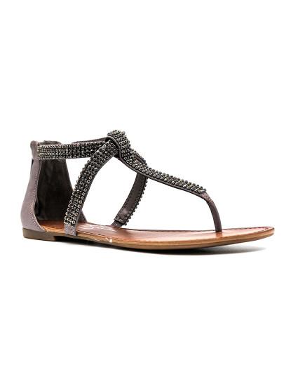 Sandálias rasas Jessica Simpson Garreth Cinza