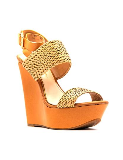Sandálias salto alto Jessica Simpson Eila Natural Amber