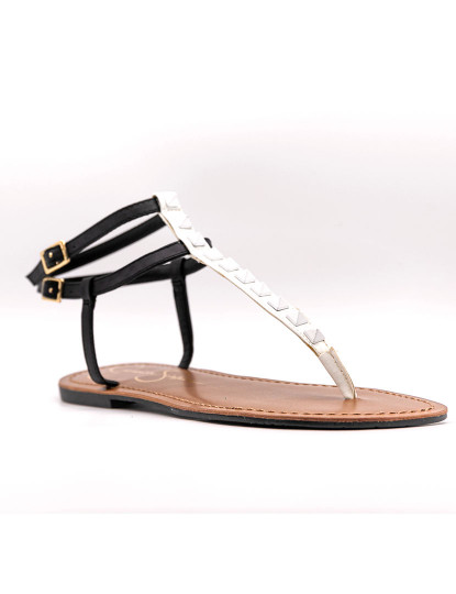 Sandálias rasas Jessica Simpson Kabii Preto E Branco