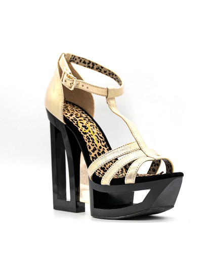 Sandálias salto alto Jessica Simpson Tracie Cinzento Deco Metalic