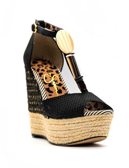 Sandálias de cunha Jessica Simpson Cyrille 9 Preto