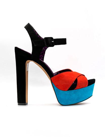 Sandálias salto alto Jessica Simpson Kierstin 6 Vermelho Preto