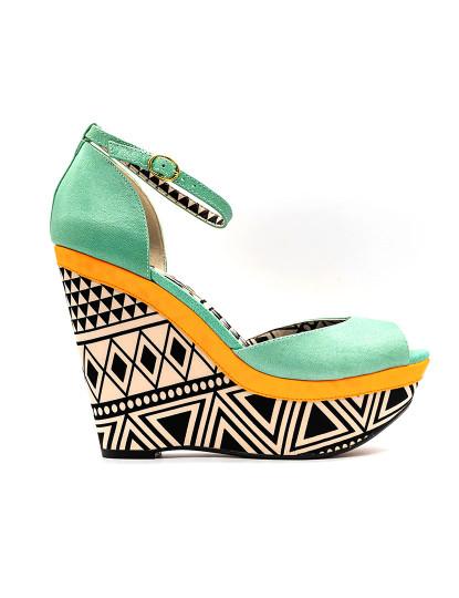 Sandálias de Cunha Jessica Simpson Keira 9 Verde Pastel