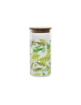 Frasco Cristal e Bambu Folhas