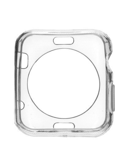 Capa Silicone Apple Watch 38 mm Transparente