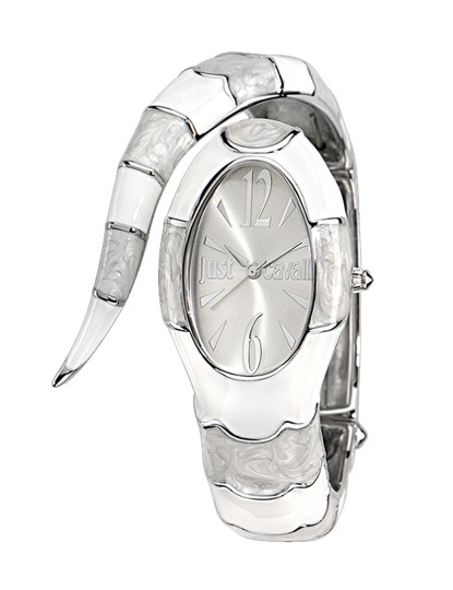 e32682d5231b6 Relógio cobra Just Cavalli Branco