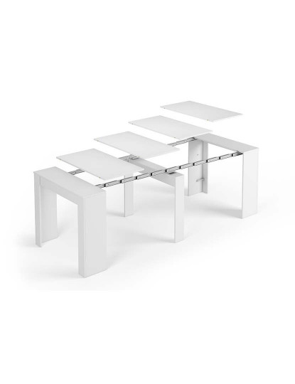 Mesa de Refeição Forés Funzionale Consola Extensível Branco