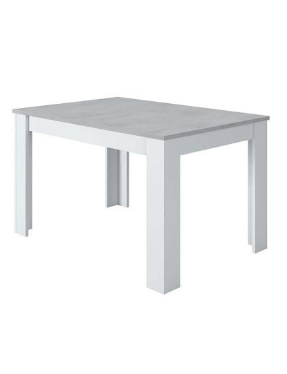 Mesa de Refeição Forés Extensível Cinza e Branco