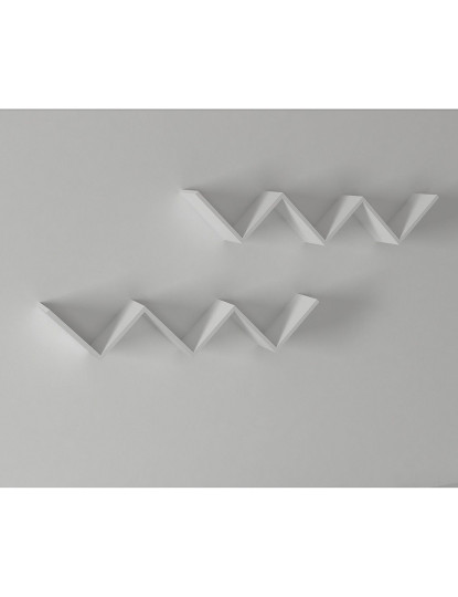 Prateleira de parede Zig zag 2'li Branco