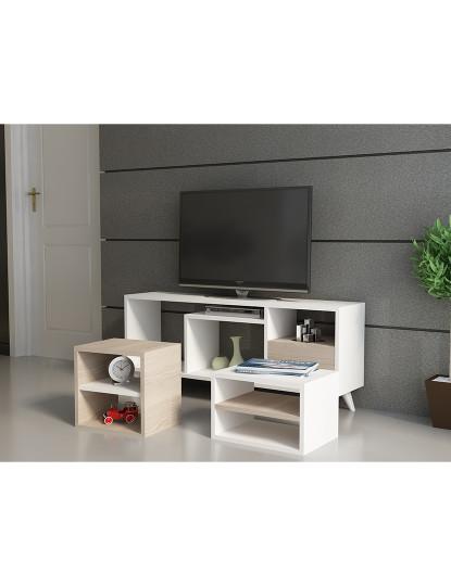 Móvel de tv  Selin, Cordoba Branco
