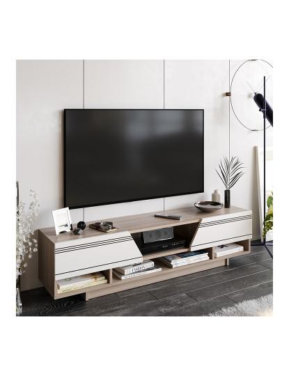 Móvel de tv  Aspatria Branco, Cordoba Branco