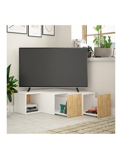 Móvel de tv  Branco Compacto, Carvalho