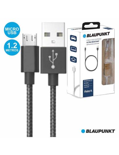 Cabo Blaupunkt Nylon Preto USB-A/Micro U