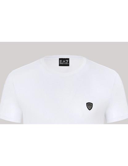 T-shirts Decote Redondo Armani Homem Branco