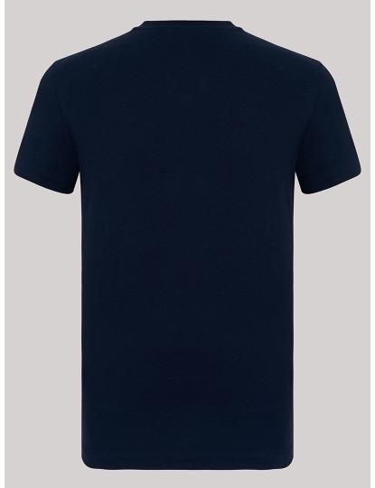 T-shirts Decote Redondo Armani Homem Azul Navy