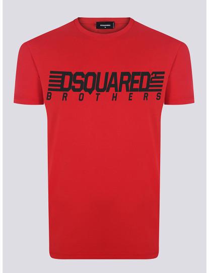 T-shirts Dsquared Homem Vermelho