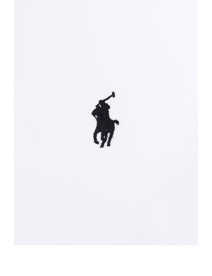Pólo M. Curta Ralph Lauren Homem Branco/Preto