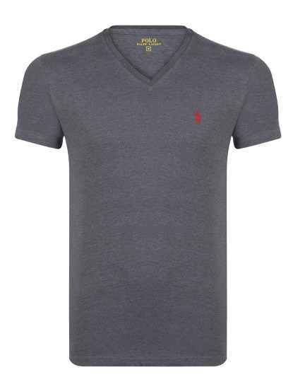 T-shirts Decote em V Ralph Lauren Homem Antracite