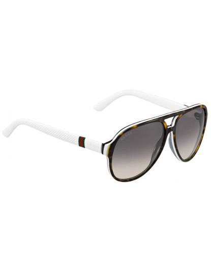 35cae41a703cf Óculos de Sol GUCCI branco Cinzento
