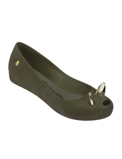 A sapatilha clássica de Melissa em versão com aplique de um