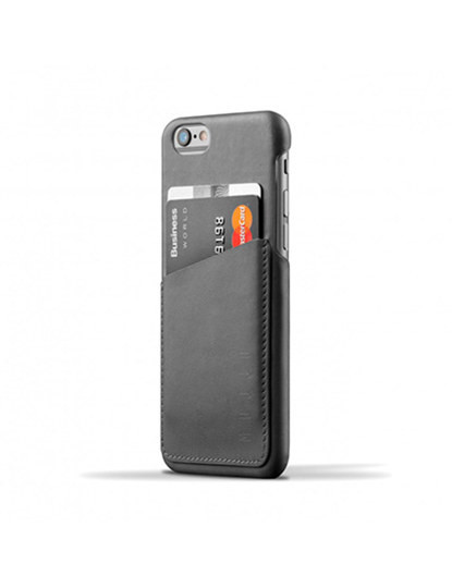 Mujjo - Leather Wallet iPhone 6/6s (Gray)